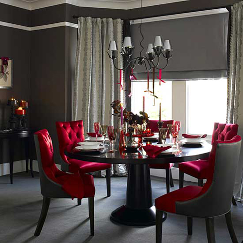 Dining-Room-with-Red-and-Brown