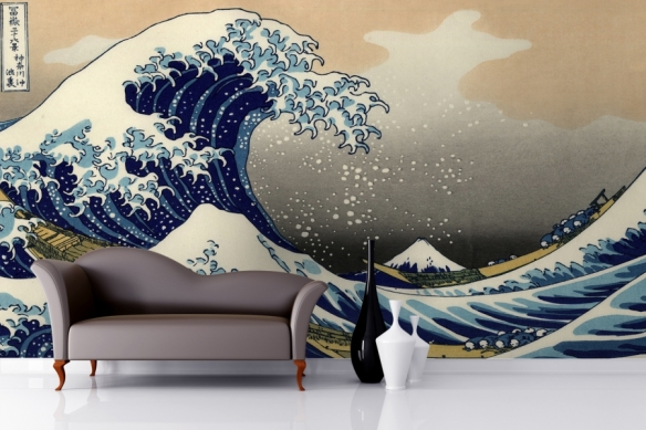The-Great-Wave-off-Kanagawa-by-Hokusai-Mural-Room