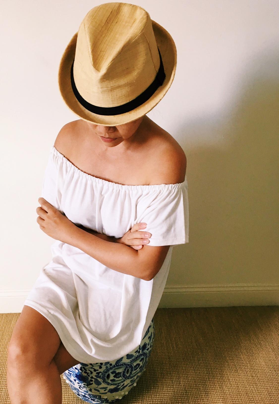 Diy Off Shoulder T Shirt Dress A Spoonful Of Pretty
